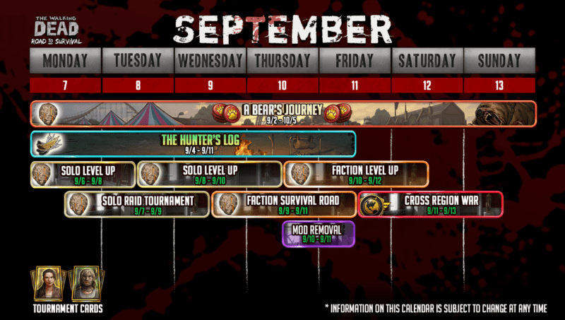 Календарь событий на сентябрь 2020